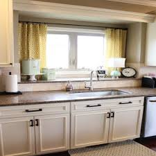 Window Treatment Ideas For Kitchen Kitchen Windowts Above Sink Red And White Roman Shades Modern