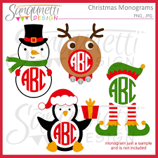monogram christmas sanqunetti design christmas monograms