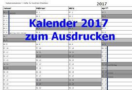 Kalender 2018 Hessen Din A4 Kalender 2017 Zum Ausdrucken Freeware De