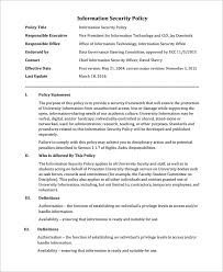 sample it security policy template 9 free documents download in