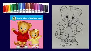 daniel tiger coloring book coloring with markers kids learn