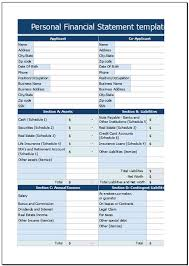 Personal Financial Statement Excel Template Free Personal Financial Statement Template For Excel 2007 2016