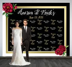 wedding backdrop personalized wedding photo backdrop custom wedding backdrop printed