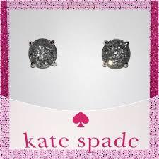rhodium earrings sensitive ears kate spade silver glitter earrings for mosaiz sensitive
