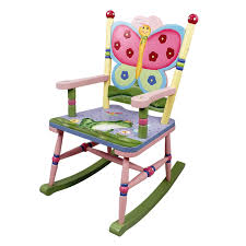 White Childs Rocking Chair Furniture Lovable White Kidkraft 2 Slat Rocker Perfectly Child