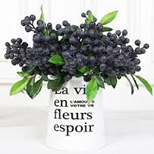 Flowers For Home Decor Amazon Com Luyue Rustic Artificial Decorative Blueberry Fruit