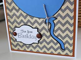 balloon birthday card for him personalized birthday card blue
