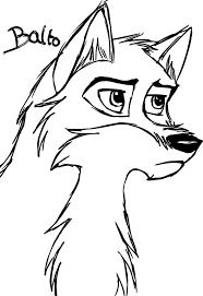 sketch de balto wolf coloring page wecoloringpage