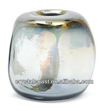 Small Decorative Vases Grey Ikebana Kenzan Mirrored Square Stone Shape Glass Vase Small