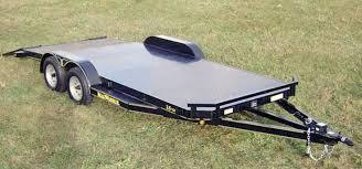 steel floor car hauler trailer johnson trailer co