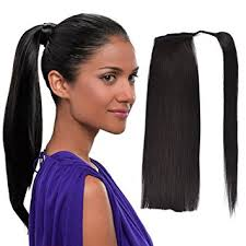 ponytail hair extensions 22 human hair ponytail wrap around clip in ponytail
