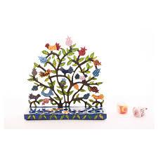 menorah tree of tree of menorah by yair emanuel in colorful laser cut metal