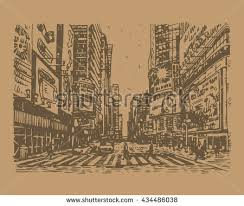 times square new york usa sketch stock vector 434608453 shutterstock
