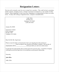 sample resignation letter 8 examples in word pdfcompany