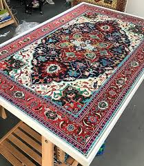 The Rug Store Austin Artist U0027s Persian Rug Paintings Will Make You Do A Double Take Curbed