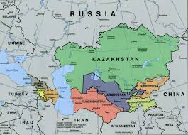 Blank Map Of Central Asia by Asia Map Caspian Sea