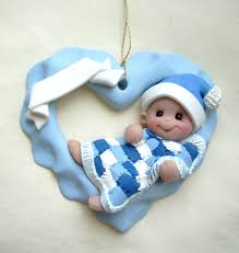 personalized baby u0027s first christmas ornament crafts polymer clay