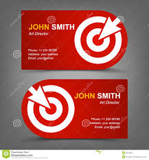 business card target cursor stock vector image 39158851