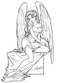 angel sketch by sabinerich deviantart com on deviantart