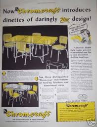 chromcraft table and chairs retro yellow chromcraft table chairs 1950 mid century fun