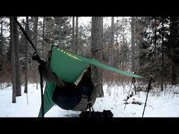 winter hammock camping youtube