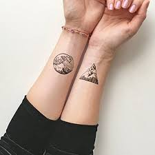 amazon com mountains u0026 waves temporary tattoo set of 2 handmade