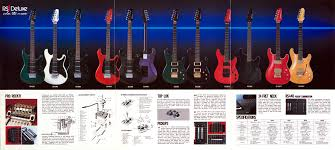 ibanez roadster ii deluxe series catalog 1984 guitar