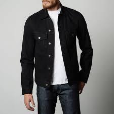 mens denim jacket in jet black 95 dstld