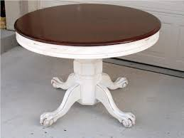 White Distressed Dining Table Distressed Round Coffee Table