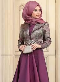 www modanisa kosem evening dress plum zehrace muslimah fashion