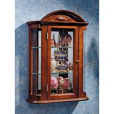 Specialty Lighting Curio Cabinet Amazon Com Glass Curio Cabinets Rosedale Wall Mounted Curio