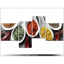 tableau cuisine design 140 x 70cm epices saveurs du monde tableau multi panneaux