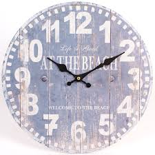 life is good at the beach blue wall clock beautiful shabby chic