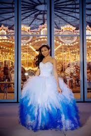 sweet sixteen quinceanera blue and white organza dresses 2015 plus