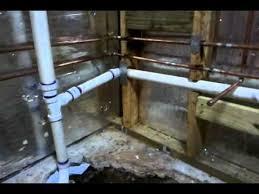 basement bathroom rough in plumbing new basement bathroom plumbing youtube