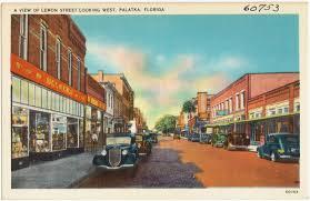 Palatka Florida Map by A View Of Lemon Street Looking West Palatka Florida Digital