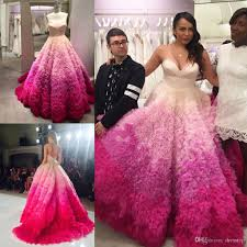wedding clothes discount 2017 ombre wedding dresses a line ruffled sweetheart