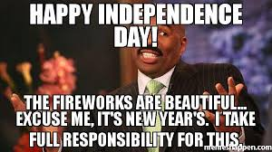 Fireworks Meme - happy independence day the fireworks are beautiful excuse me