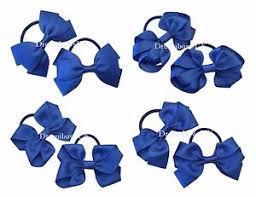 hair bobbles royal blue hair bows thick hair bobbles royal blue school hair