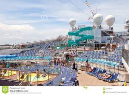 lido deck on the carnival freedom editorial stock image image cruise deck