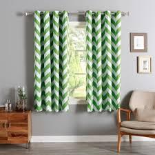 Grommet Chevron Curtains Aurora Home Chevron Print Room Darkening Grommet Top 96 Inch