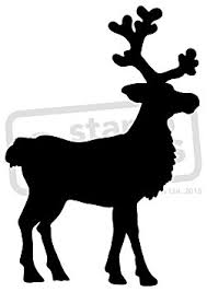 buy a3 reindeer outline wall stencil template ws00008236