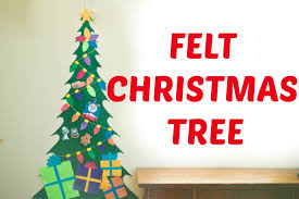 make your own felt christmas tree youtube