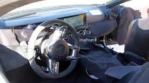 mercedes digital dashboard mercedes amg gt sedan partially reveals dashboard in spy shots