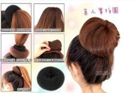 hairstyles with a hair donut updo hairstyles chignon donut bun maker online shopping