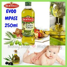 Minyak Evoo Untuk Bayi bertolli evoo mpasi 250ml olive minyak zaitun bkn