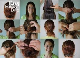 easy messy buns for shoulder length hair easy messy bun girl loves glam medium hair styles ideas 36866