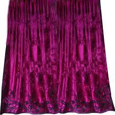 Plum Velvet Curtains Faupel Readymade Curtains