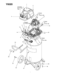 husky y6020wk air compressor parts