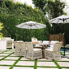 Dining Table With Rattan Chairs Trestle Outdoor Dining Table With Wicker Dining Chairs
